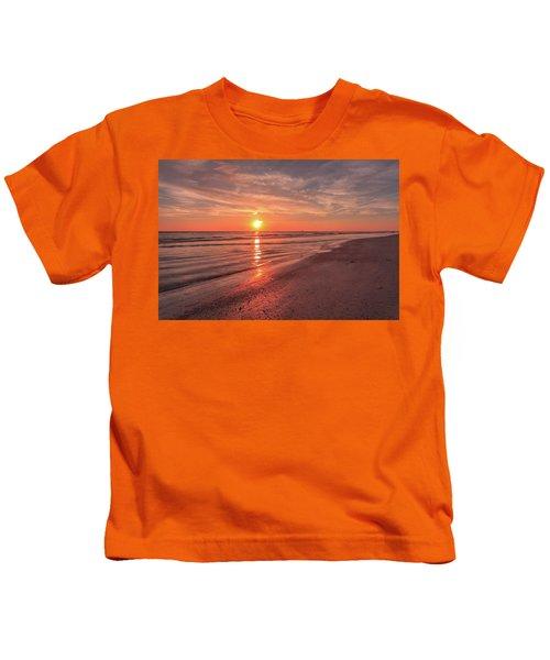 Sunburst At Sunset Kids T-Shirt