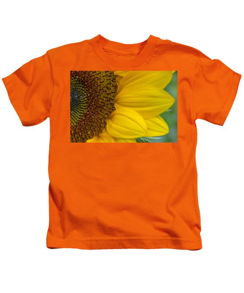 Sunflower Closeup Kids T-Shirt