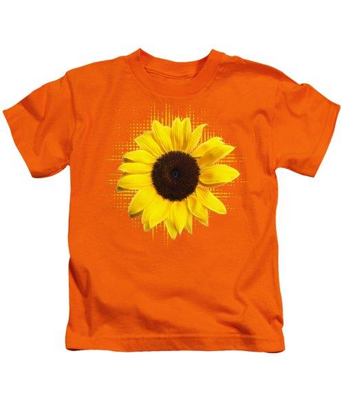 Sunflower Sunburst Kids T-Shirt