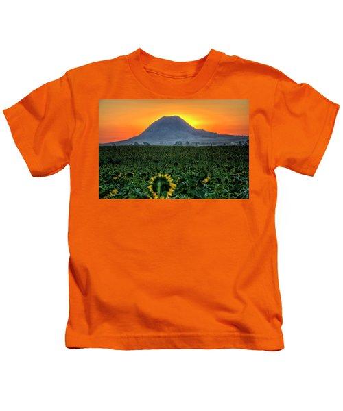 Sunflower Sunrise Kids T-Shirt
