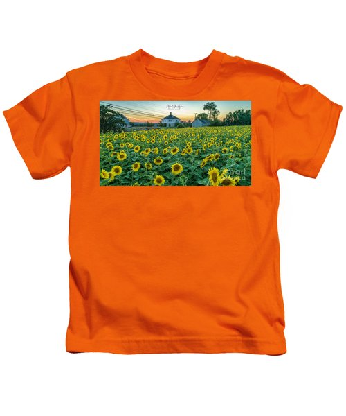 Sunflowers For Wishes  Kids T-Shirt