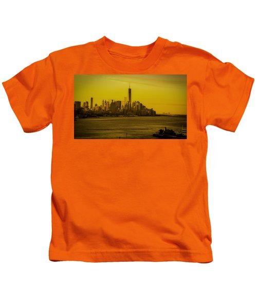 Sunrise Across The Hudson Kids T-Shirt