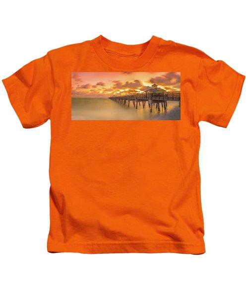 Sunrise At Juno Beach Kids T-Shirt