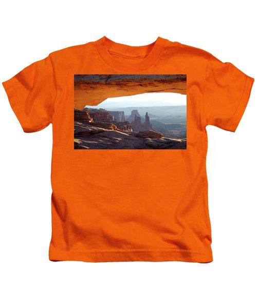 Sunrise At Mesa Arch Kids T-Shirt