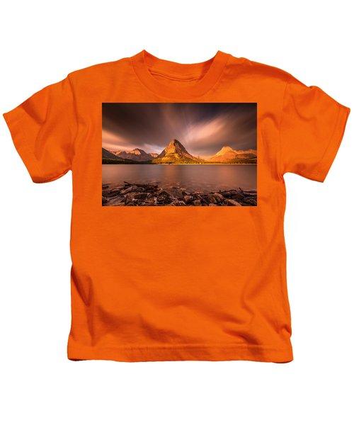 Sunrise In Glacier National Park Kids T-Shirt