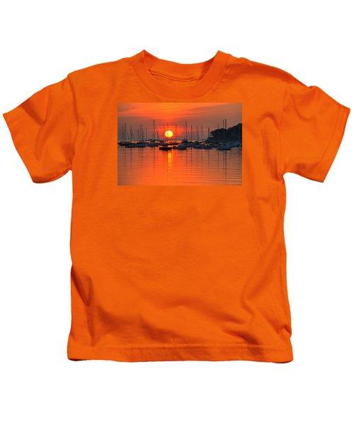 Sunrise On Salem Harbor Salem Ma Kids T-Shirt