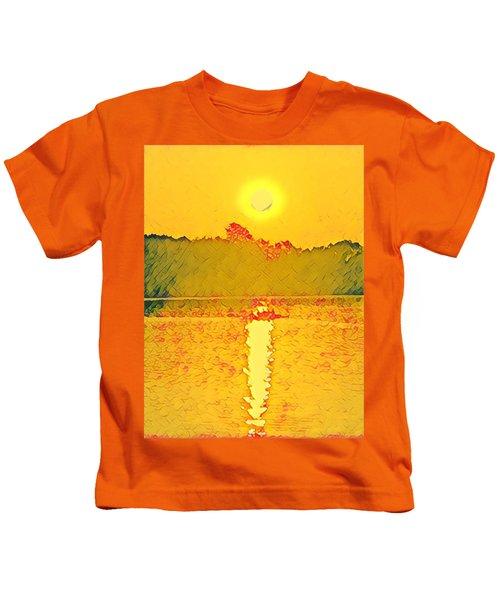 Sunrise On Town Lake Kids T-Shirt
