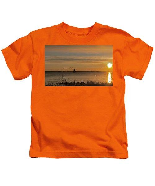 Sunrise Over New Bedford Kids T-Shirt