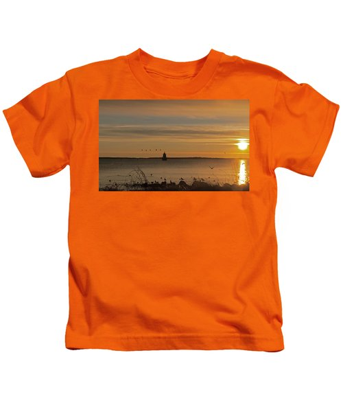 Sunrise Over New Bedford Kids T-Shirt