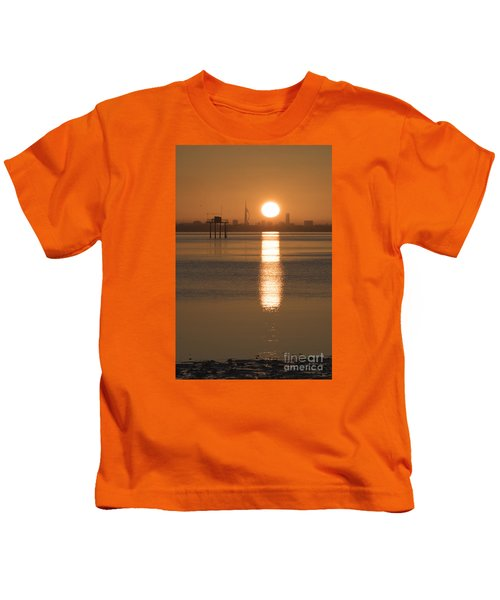 Sunrise Over Portsmouth Kids T-Shirt