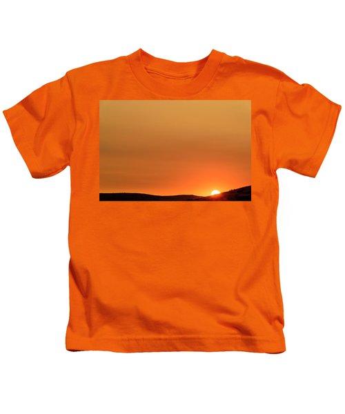 Sunrise Over The Umtanum Ridge Kids T-Shirt