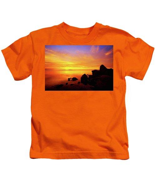 Sunset And Fire Kids T-Shirt