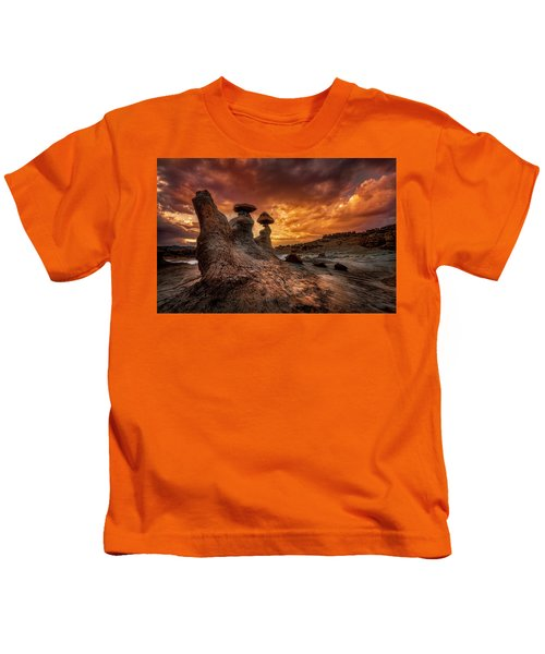 Sunset At Goblin Valley Kids T-Shirt