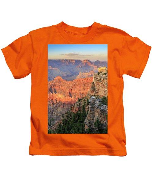 Sunset At Mather Point Kids T-Shirt