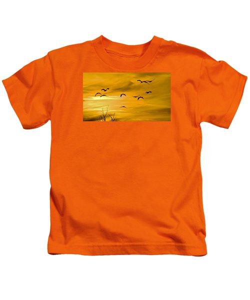 Sunset Fliers Kids T-Shirt