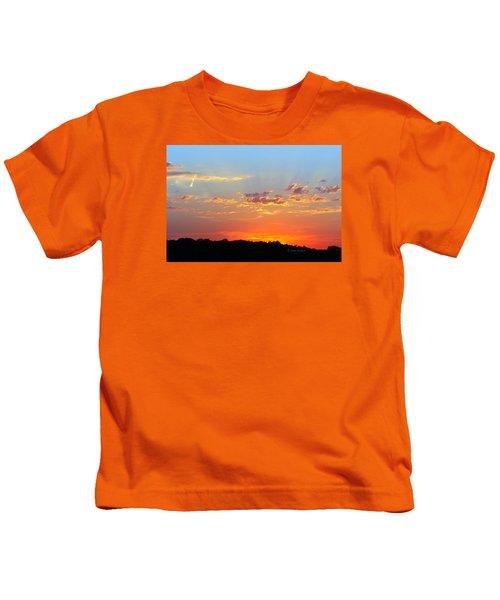 Sunset Glory Orange Blue Kids T-Shirt