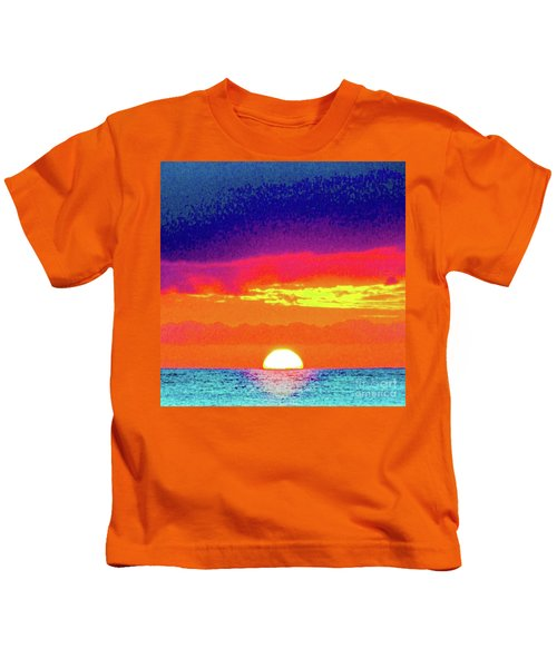 Sunset In Abstract 500 Kids T-Shirt