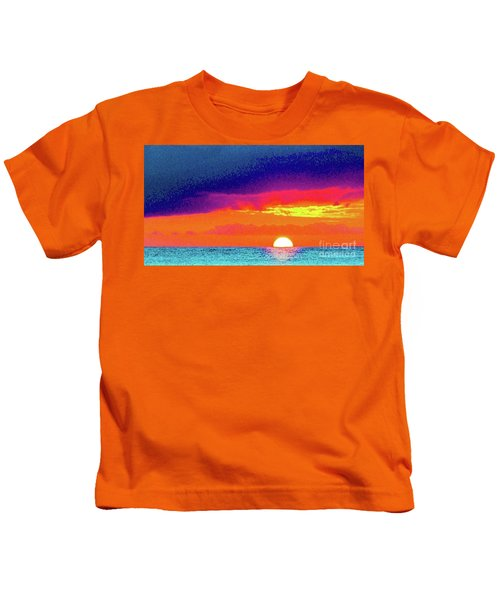 Sunset In Abstract  Kids T-Shirt