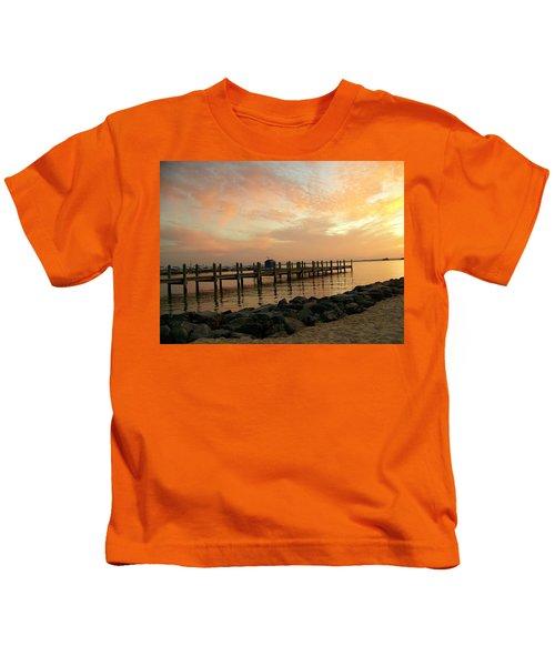 Sunset On Dewey Bay Kids T-Shirt