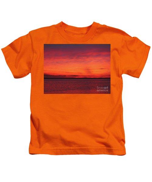 Sunset On Jersey Shore Kids T-Shirt