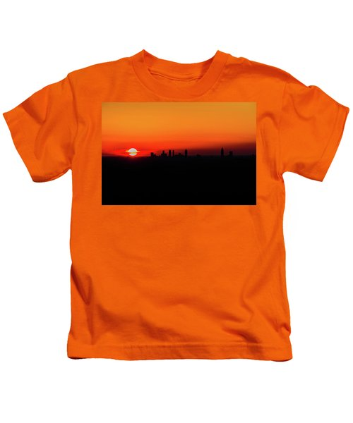 Sunset Over Atlanta Kids T-Shirt