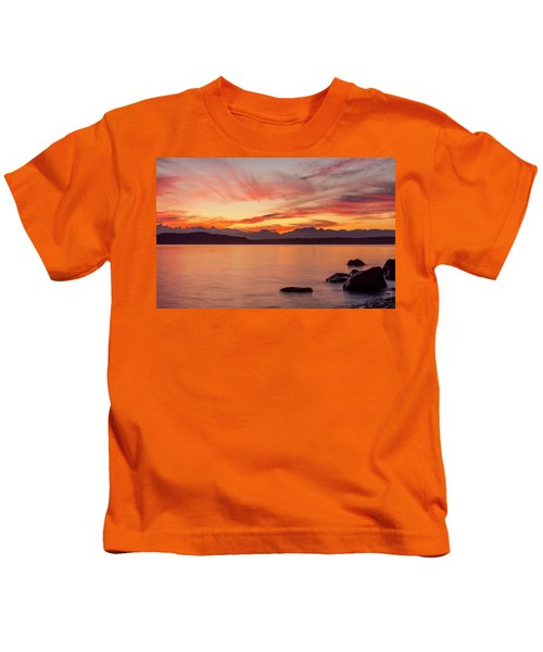 Sunset Puget Sound Kids T-Shirt