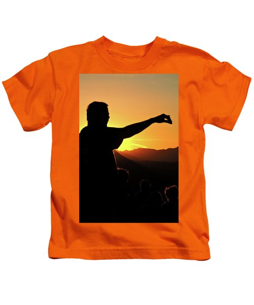 Sunset Silhouette Kids T-Shirt