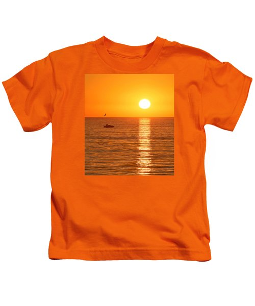 Sunset Solitude Kids T-Shirt