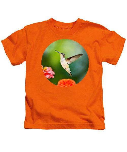 Sweet Promise Hummingbird Kids T-Shirt by Christina Rollo