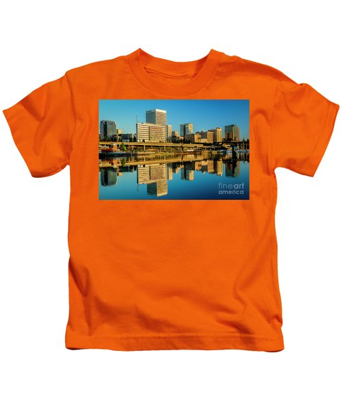 Tacoma's Waterfront,washington Kids T-Shirt