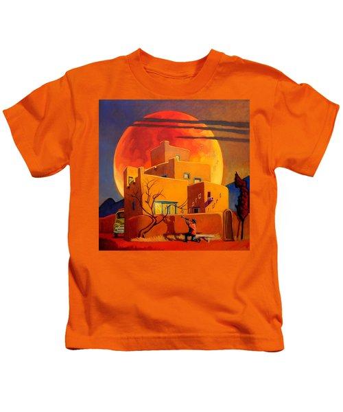 Taos Wolf Moon Kids T-Shirt
