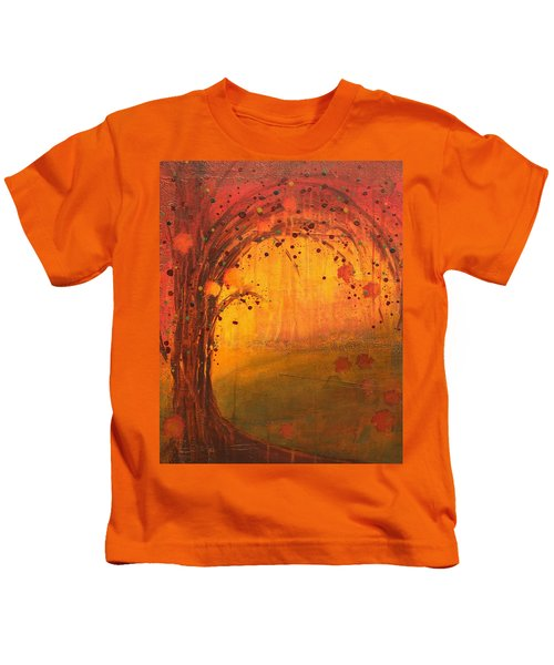 Textured Fall - Tree Series Kids T-Shirt
