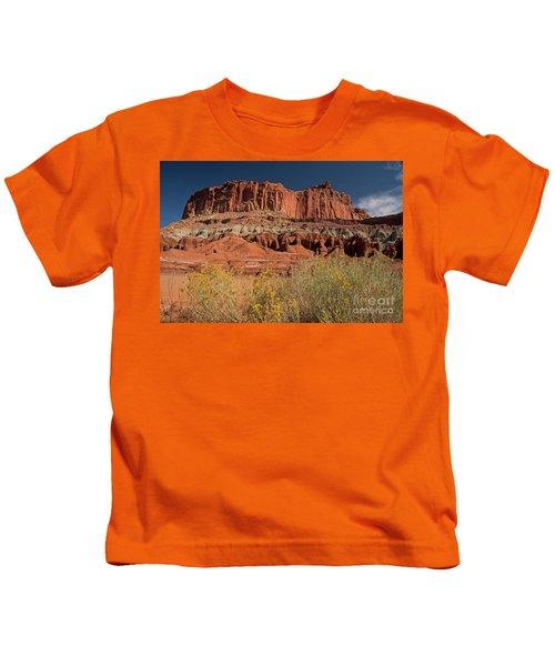The Castle In Capital Reef Kids T-Shirt
