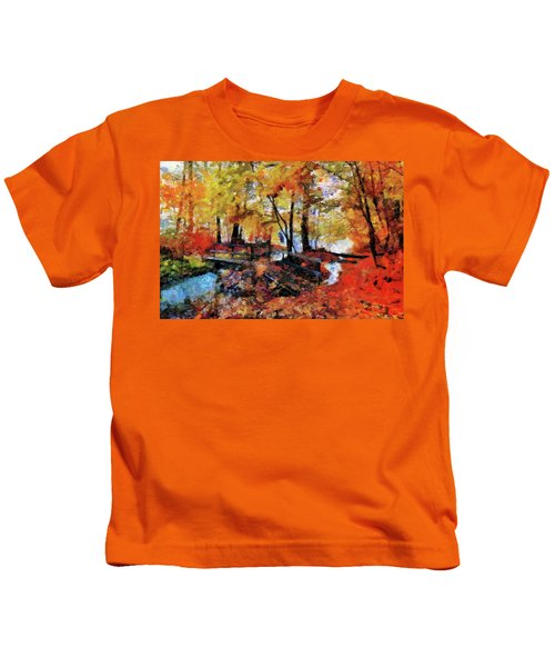 The Failing Colors Of Autumn Kids T-Shirt