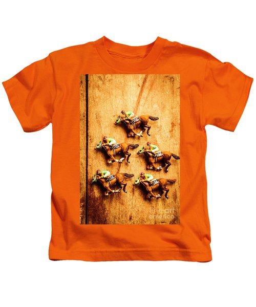 The Wooden Horse Race Kids T-Shirt