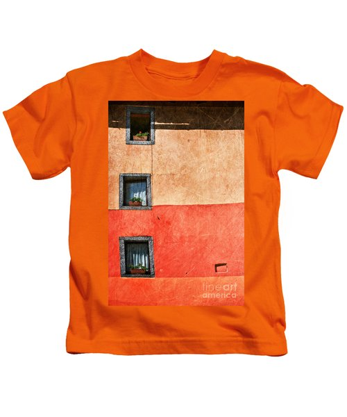 Three Vertical Windows Kids T-Shirt