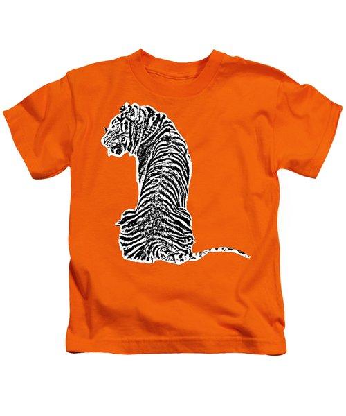Tiger Back Art Kids T-Shirt