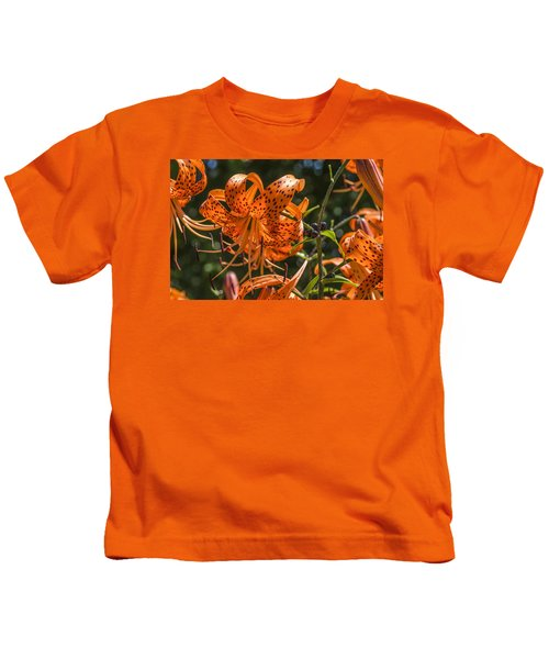 Tiger Lilies In The Sun Kids T-Shirt