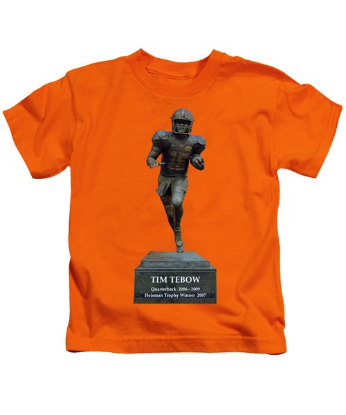 Tim Tebow Transparent For Customization Kids T-Shirt by D Hackett