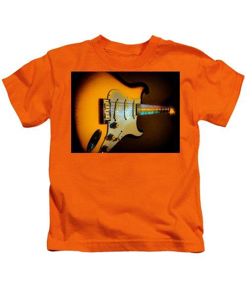 Tobacco Burst Stratocaster Glow Neck Series Kids T-Shirt
