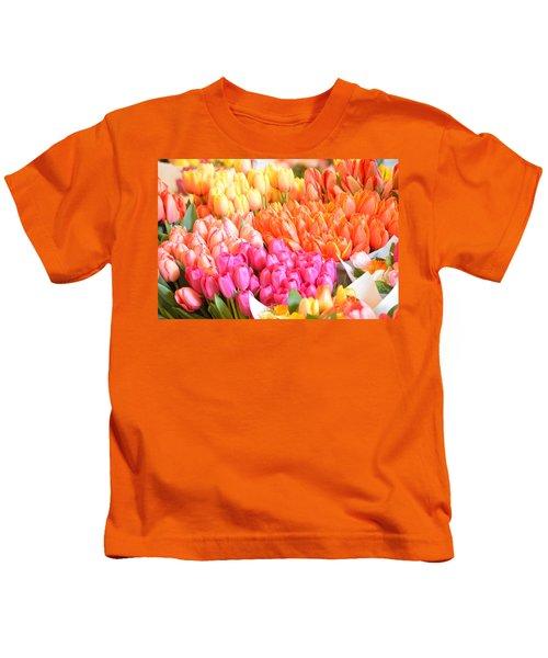 Tons Of Tulips Kids T-Shirt
