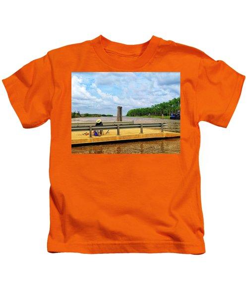 Too Hot To Fish Kids T-Shirt