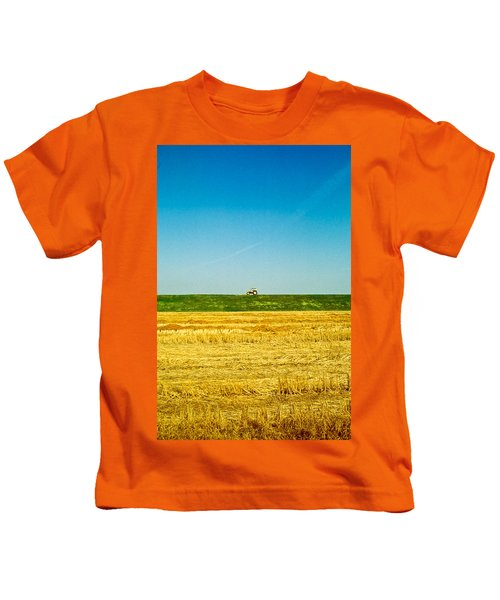 Tricolor With Tractor Kids T-Shirt