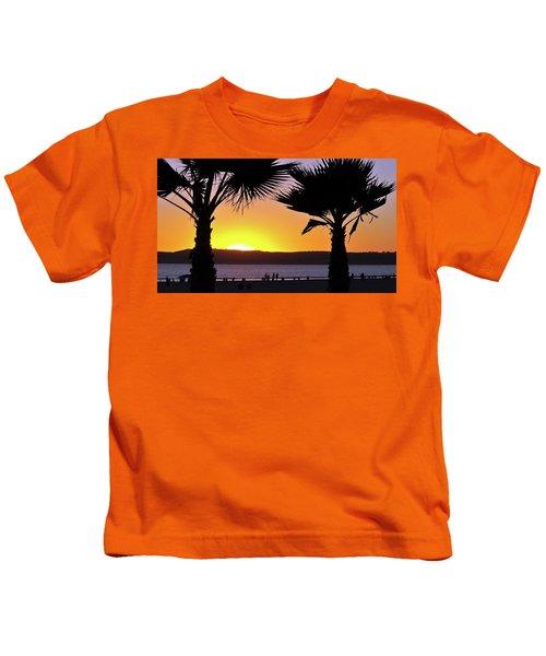 Twin Palms At Sunset Kids T-Shirt
