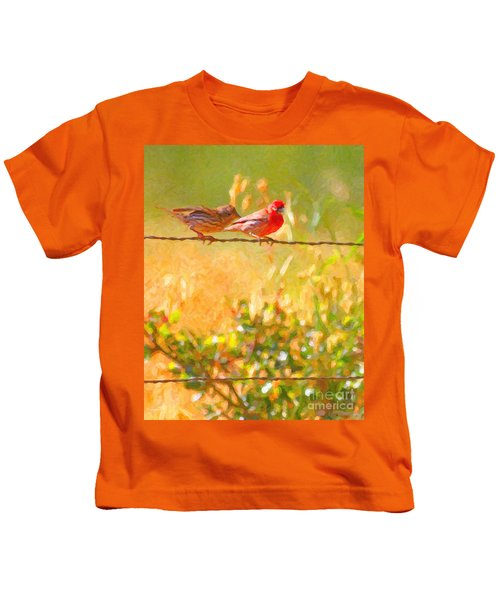 Two Birds On A Wire Kids T-Shirt