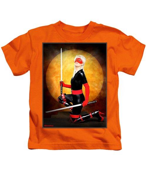 Under A Blood Moon Kids T-Shirt