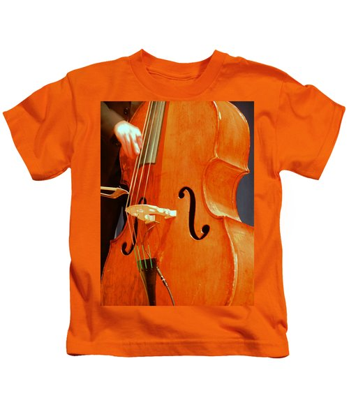 Upright Bass 3 Kids T-Shirt