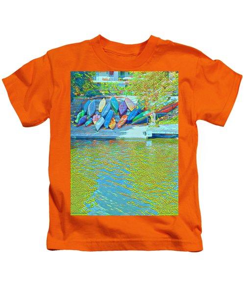 View From East Side Boardwalk Kids T-Shirt