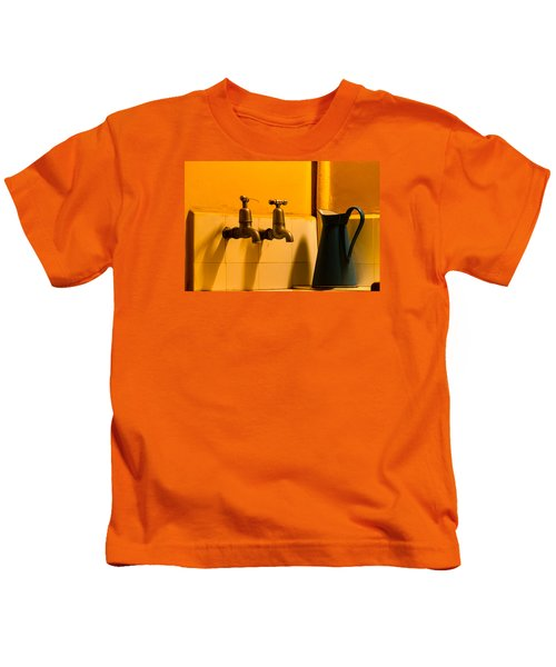 Vintage English Tap Water With Watering Can Kids T-Shirt