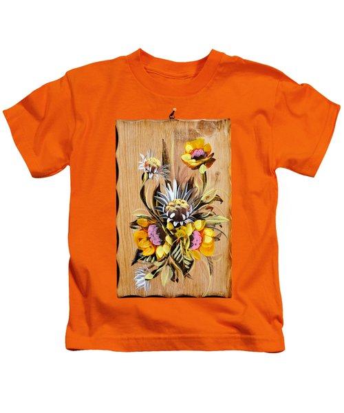 Vintage Floral Bouquet Kids T-Shirt